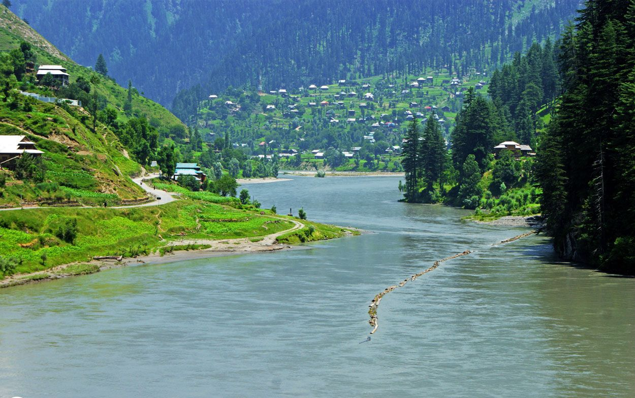 The lush green valleys of Azad Kashmir and its river banks