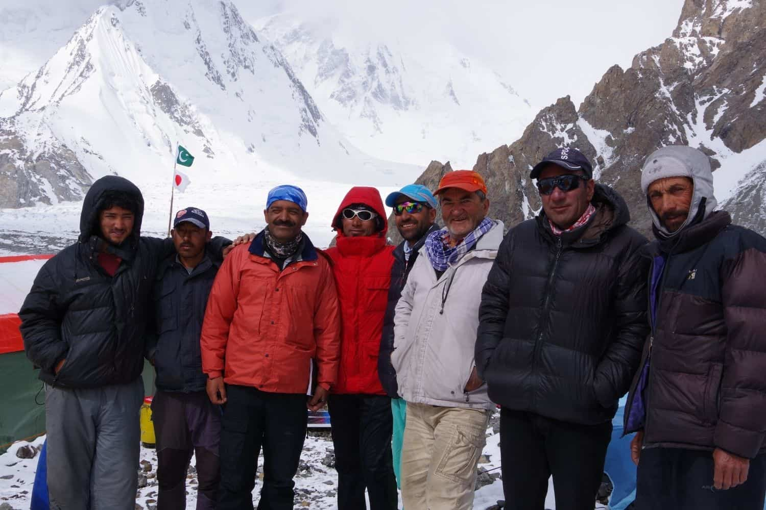 our team at base camp